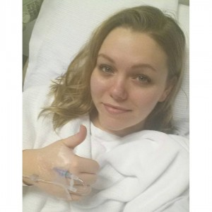 My usual post operation selfie I send to family and friends to let them know I am OK