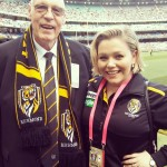 After interview with Richmond Football Club legend John Ronaldson at the MCG