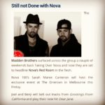 Featured on numerous websites as host of Novas Red Room with the Madden Brothers