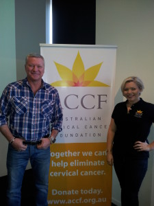 Scott Cam showing his support for the Australian Cervical Cancer Foundation