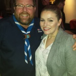 With Shane Jacobson after hosting the past cast members night at Melbourne Gangshow