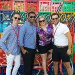 Royal Croquet Club in Melbourne with Nova 100 producer and presenter Jack Charles, Rav Kumar and actor Matt Coleman