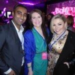 Melbourne premier of Absolutely Fabulous The Movie with Rav Kumar at smoothfm Breakfast producer Lauren Saylor