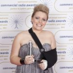 "Australian Commercial Radio Awards after winning ""Best Network Talent"" one week after having an arm operation"