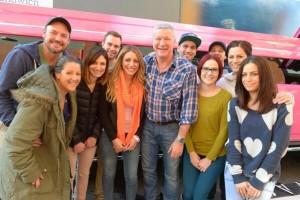 Scott Cam with the contestants. L-R Johnno, Trixie, Madi, Jarrod, Bec, Scott, George, Kim, Matt, Lysandra and Alisa.